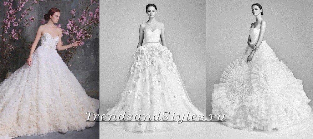 свадебная мода 2018 тенденции фото платья пышные