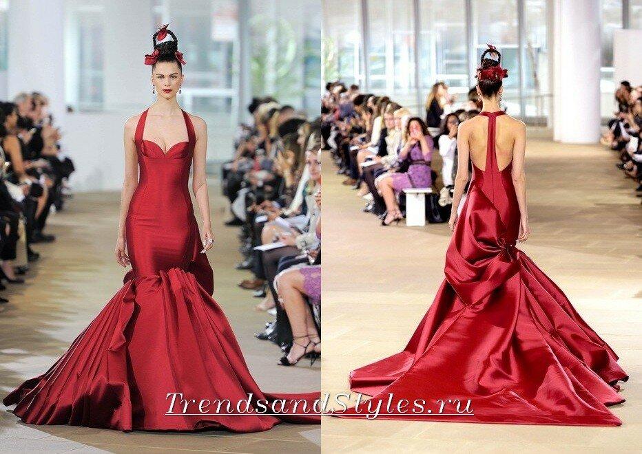 красные свадебные платья 2018