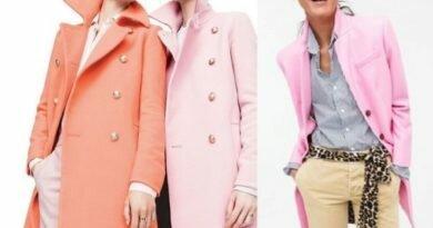 с чем носить розовое пальто фото