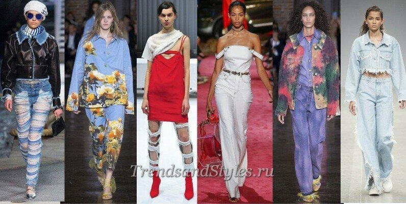 джинсы 2019 года модные тенденции, фото женские