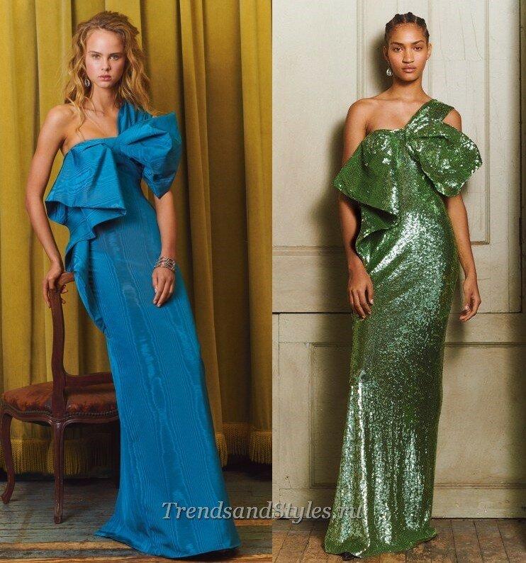 модные вечерние платья с бантами осень-зима 2020-2021 тренды