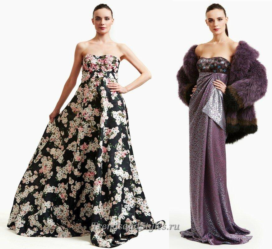 вечерние платья бюстье длинные осень-зима 2020-2021 тренды