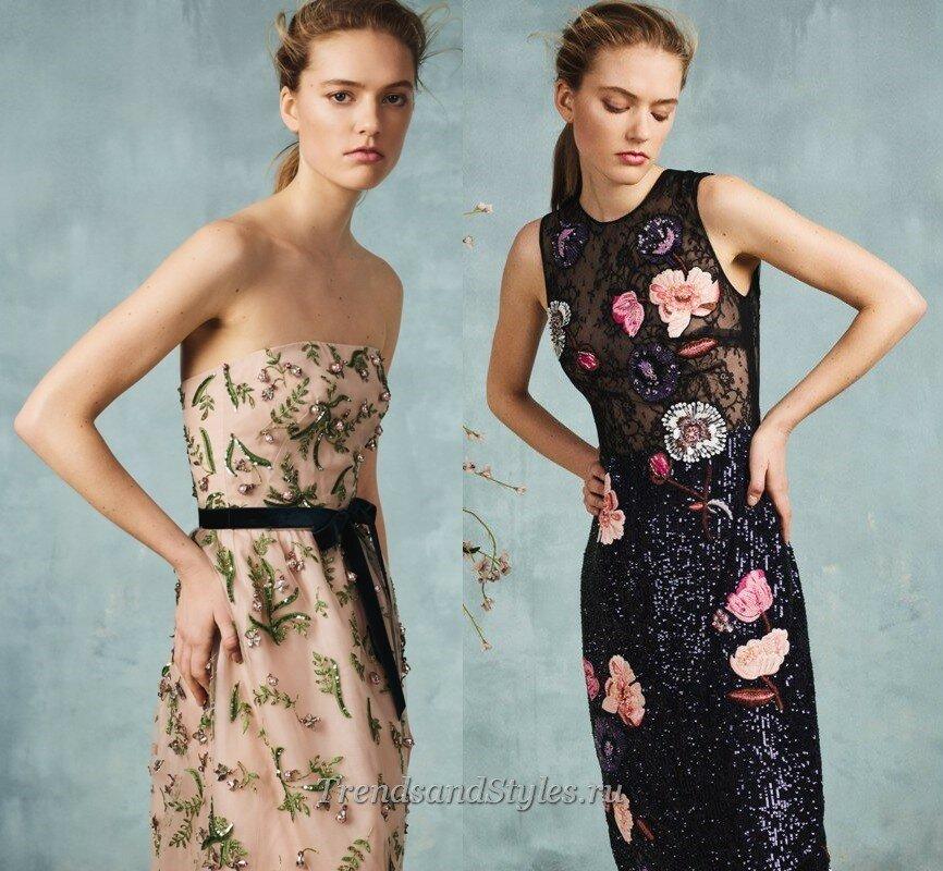 модные вечерние платья с вышивкой осень-зима 2020-2021 тренды