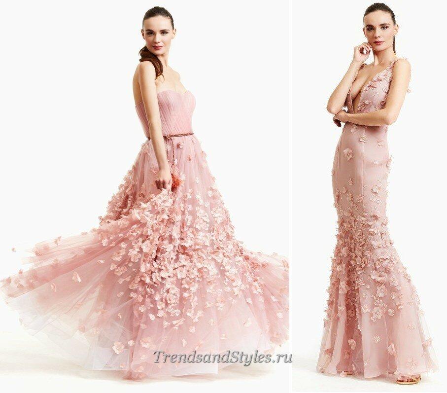 модные вечерние платья осень-зима 2020-2021 тренды