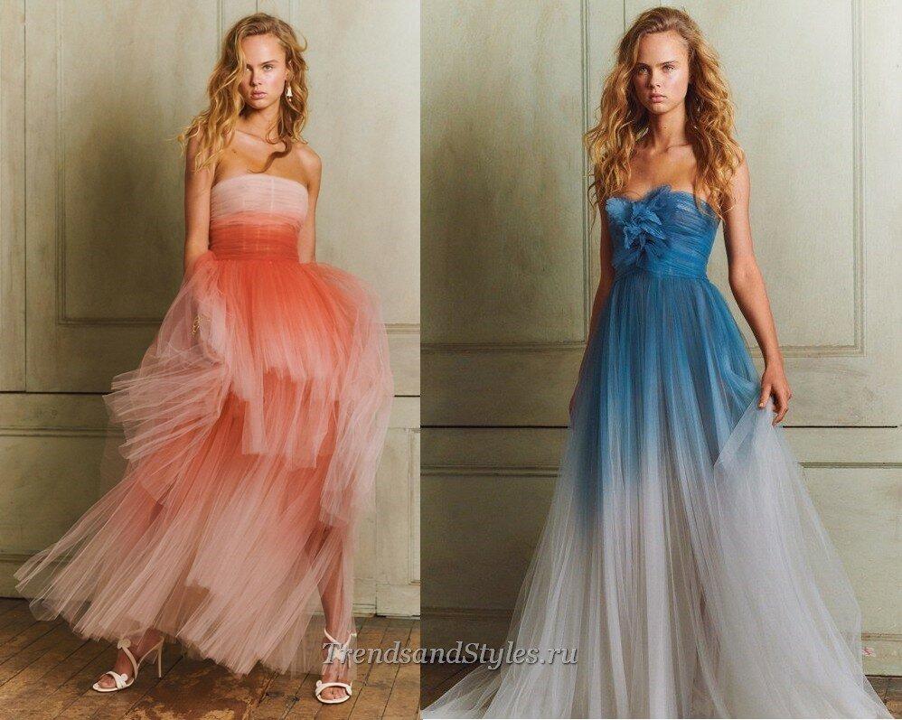 пышные  вечерние платья осень-зима 2020-2021 фото