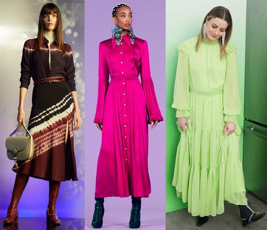 закрытые платья осень-зима 2020-2021 фото