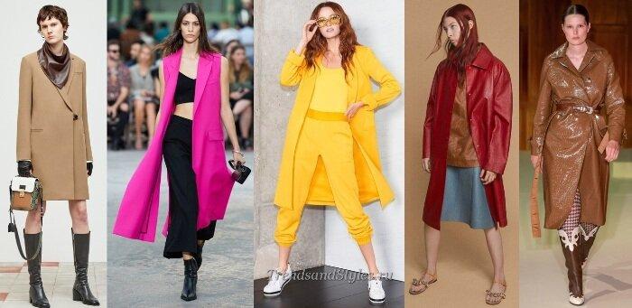 Модное пальто весна 2020. ТОП-10 оттенков для женщин