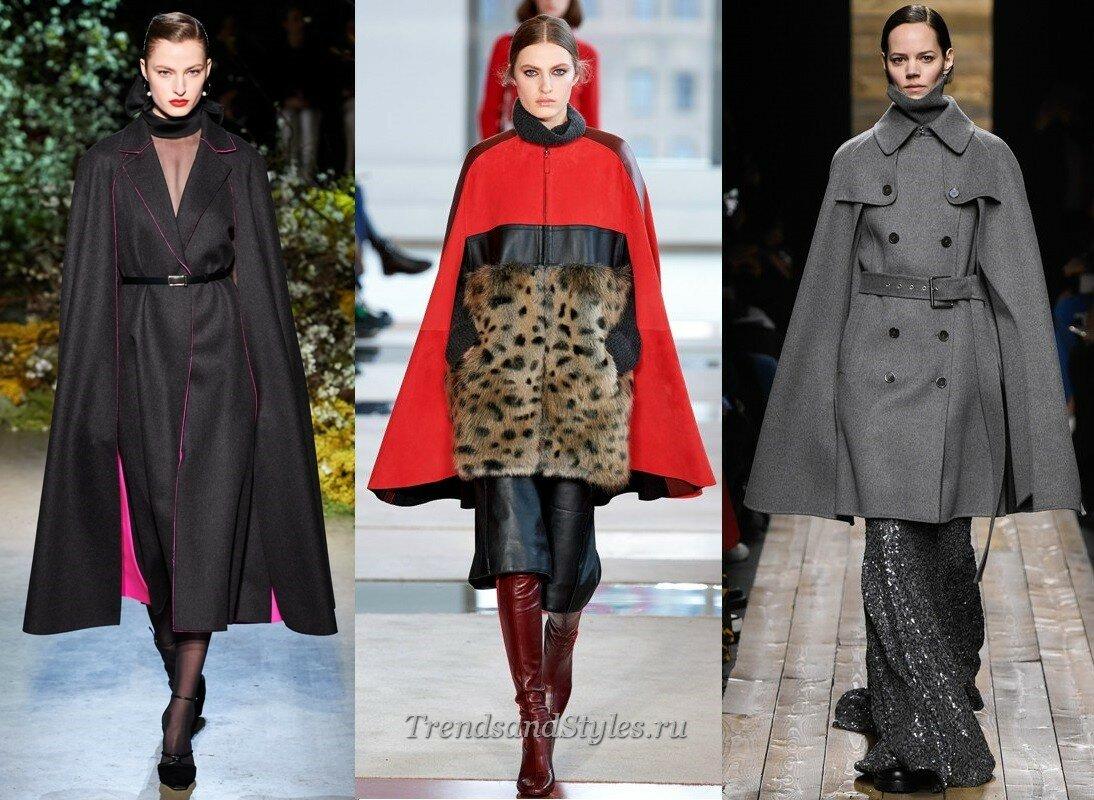кейп моное пальто осень-зима 2020-2021