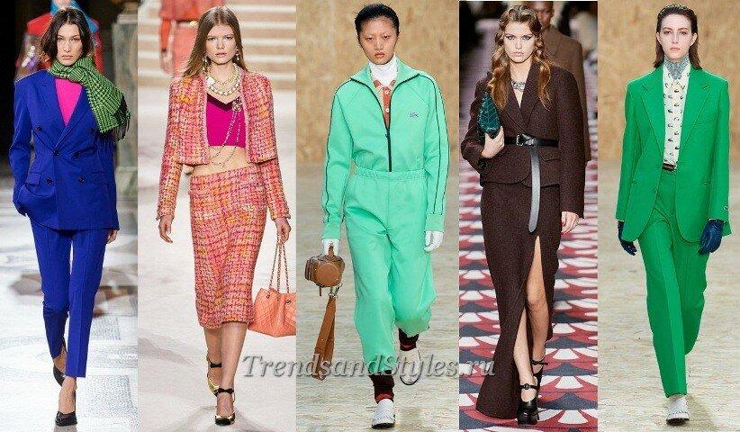 модные костюмы 2020-2021 женские
