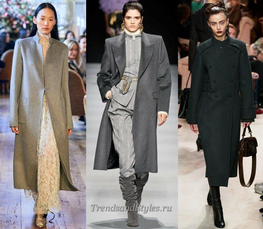 модное пальто осень-зима 2020-2021женское тренды