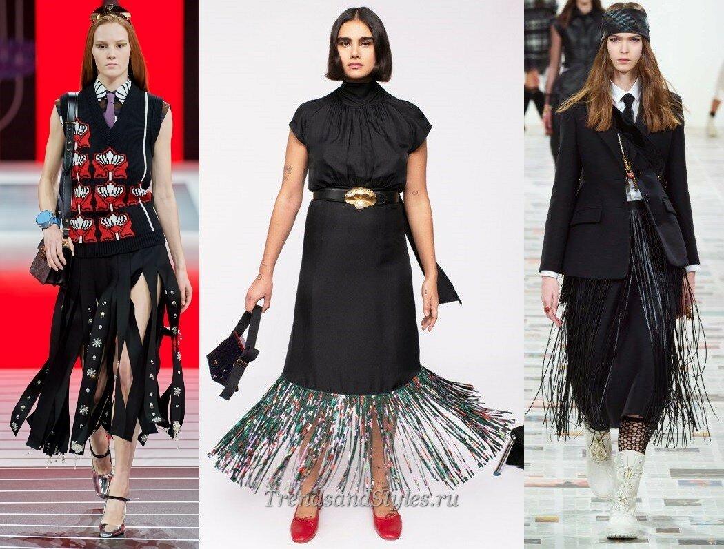 модные юбки осень-зима 2020-2021 тренды