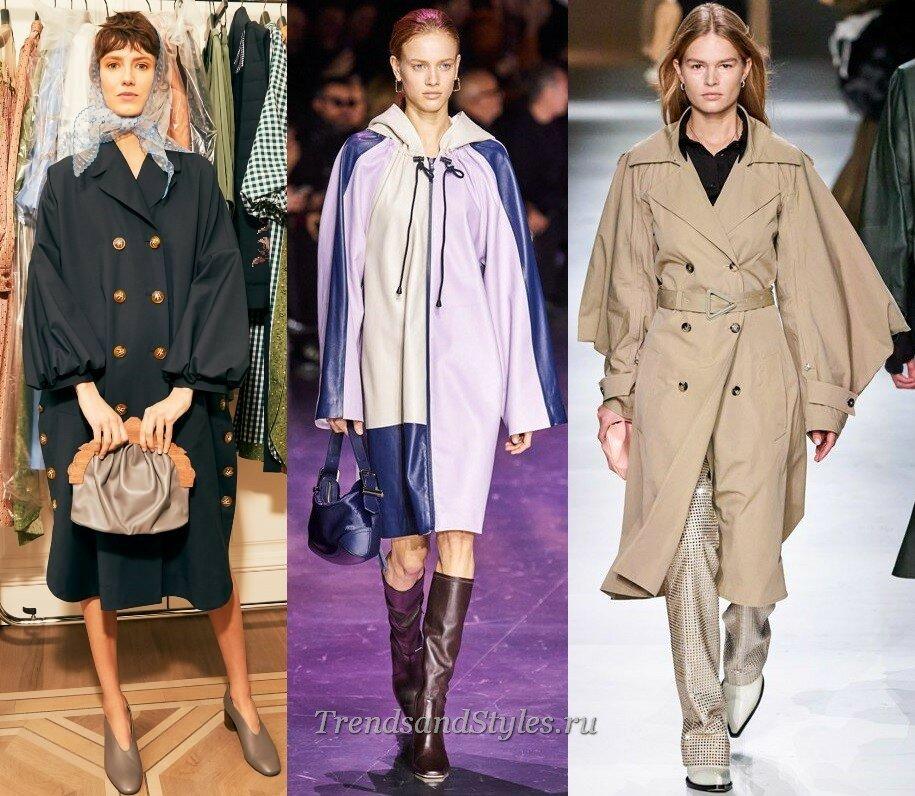 модные тенденции осень-зима 2020-2021 плащи