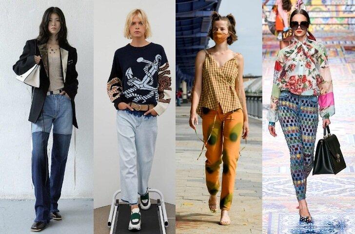 женские джинсы 2021 модные тренды