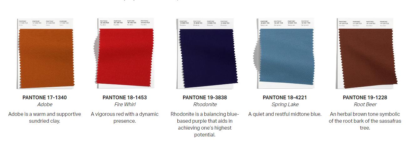 модные цвета осень-зима 2021-2022 пантон