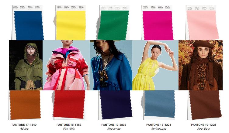 Модные цвета осень-зима 2021-2022 из Нью-Йорка. Пантон